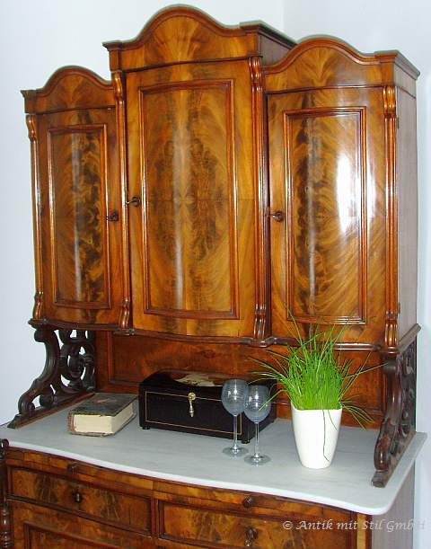 schrank buffet kredenz aufsatzschrank biedermeier historismus wiener barock ebay. Black Bedroom Furniture Sets. Home Design Ideas