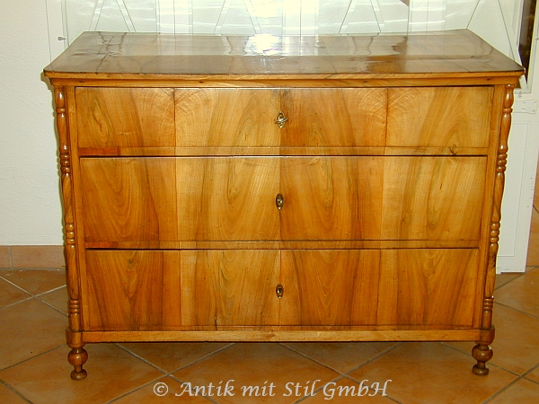 original biedermeier kommode schrank birke furnier antik original antiquit t ebay. Black Bedroom Furniture Sets. Home Design Ideas