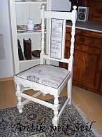 Gruenderzeit-Stuhl restauriert im Vintage-Stil