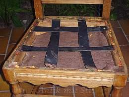 Gründerzeit-Stuhl aus Ebay - nur neu bezogen anstatt neu gepolstert (Pfusch)