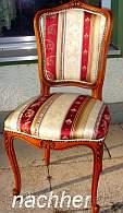 Italienischer Stuhl komplett restauriert und mit edlem Polsterstoff klassisch bezogen
