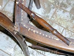 Biedermeier-Stuhl vor der Restaurierung