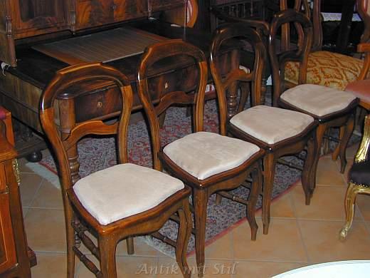Professionell restaurierte Biedermeier-Stühle von Antik mit Stil