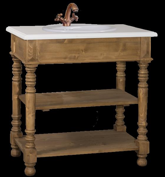 Waschtisch 90x54x90 cm, Gründerzeit-Stil, 100% Massivholz AS546
