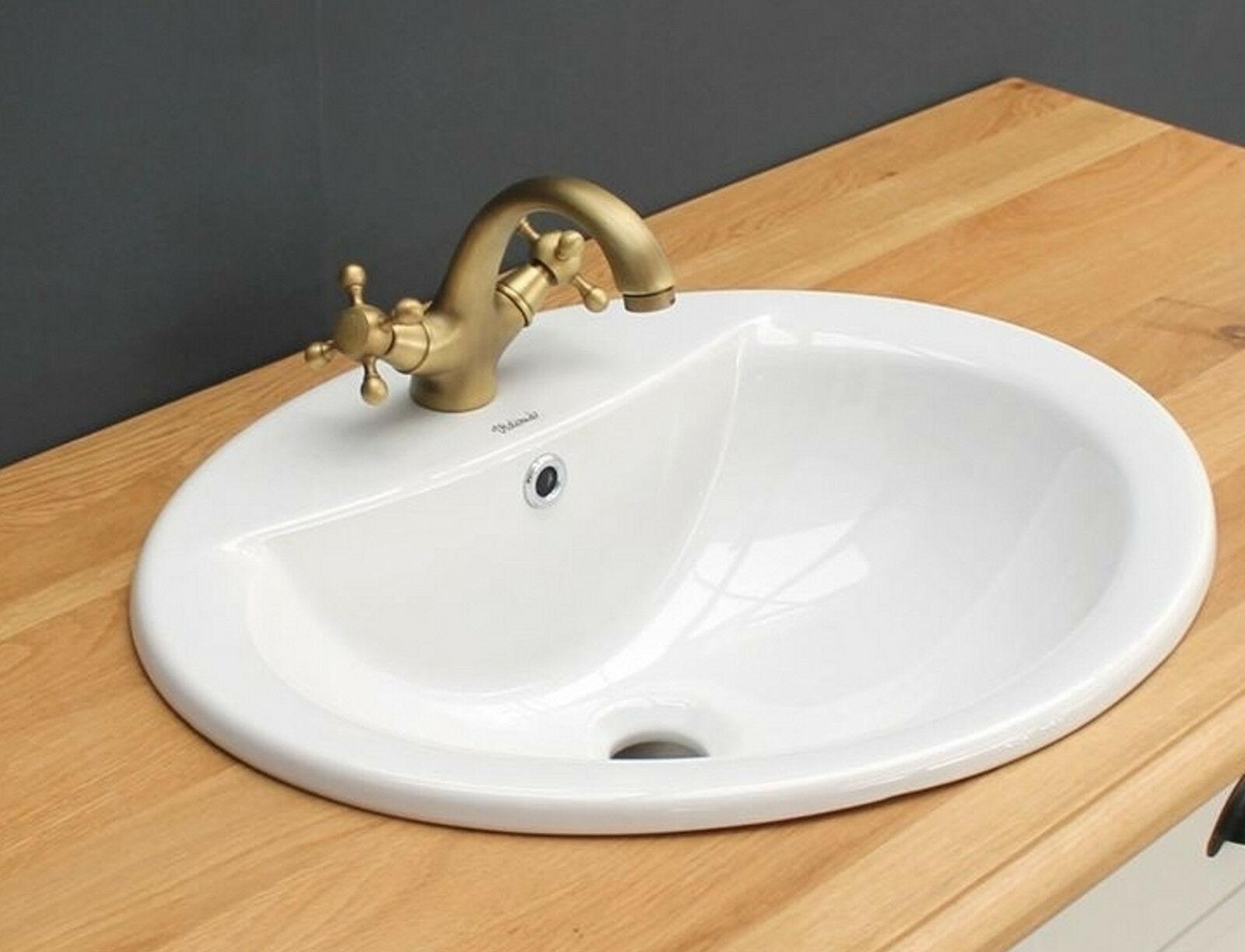 Einbauwaschbecken Waschbecken oval aus Qualitäts