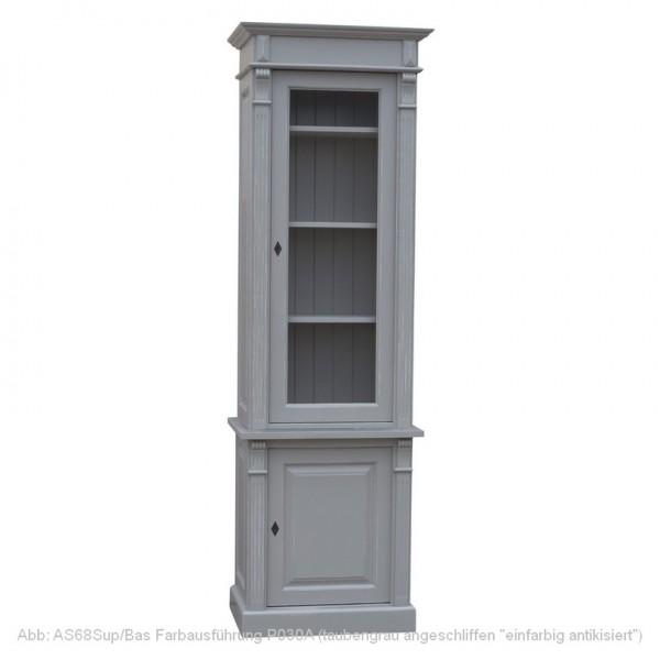 Bücherschrank Vitrinenschrank Breite 1 Massivholz Landhaus Gründerzeit-Stil von Antik mit Stil