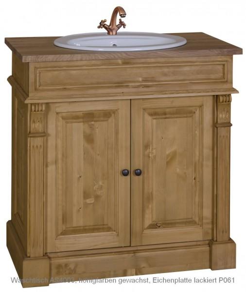 Waschtisch VICTORIAN 2-türig, 90x51x91 cm, im viktorianischen Stil, 100% Massivholz AS4003