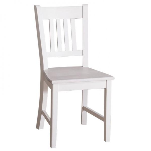 Landhaus-Stuhl Country Style von Antik mit Stil, Reinweiß mit Sitzfläche P080
