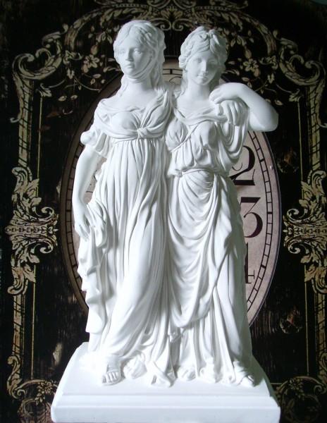 Skulptur Gipsfigur Statue PRINZESSINNEN 37 cm