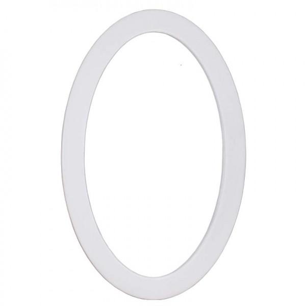 Wandspiegel oval Cremeweiß P039