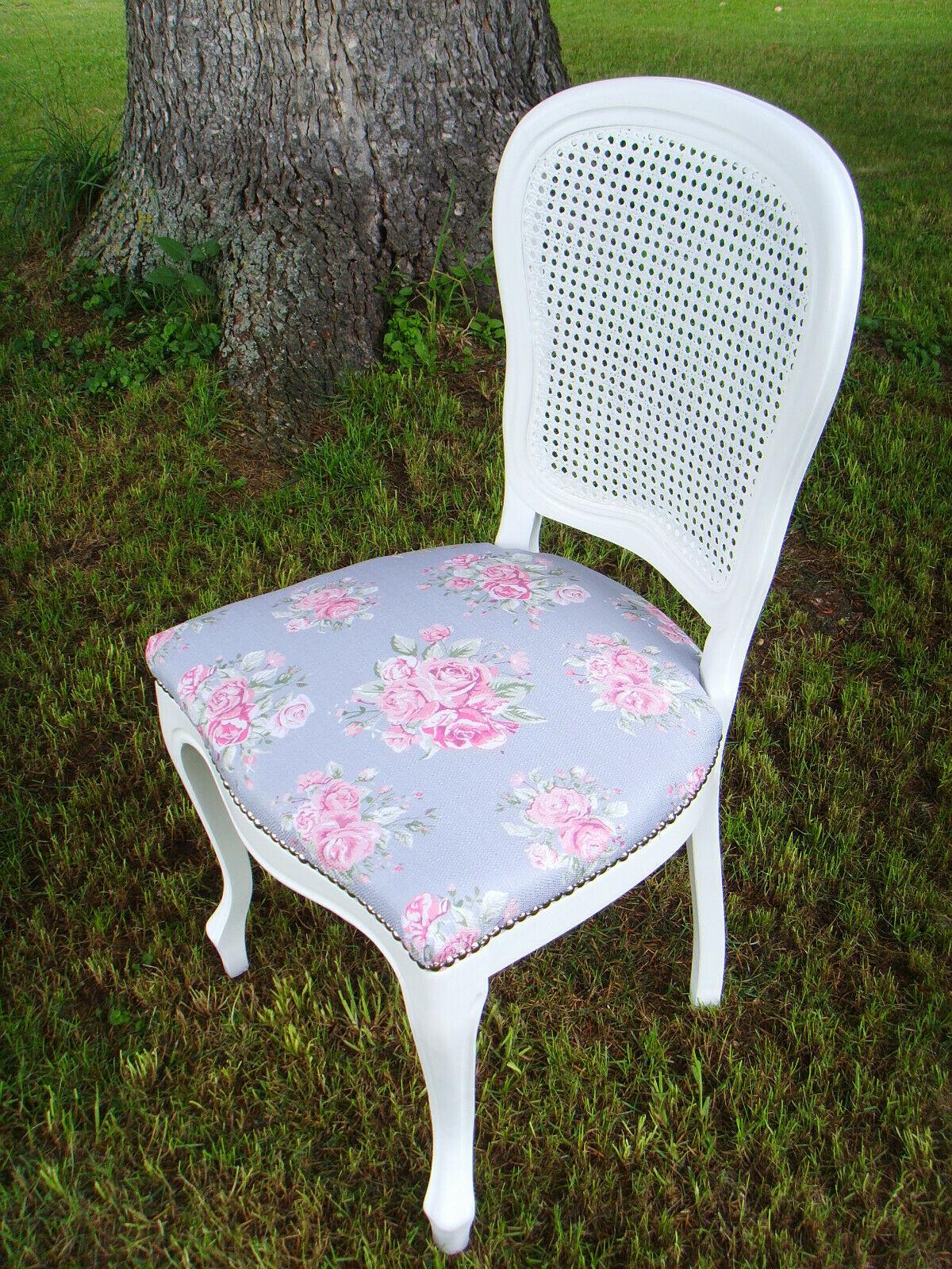 Stuhl Stühle Chippendale Shabby Vintage Stil Weiss Neu