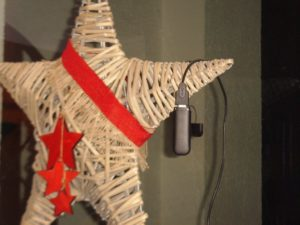Surf-Stick am Weihnachts-Stern