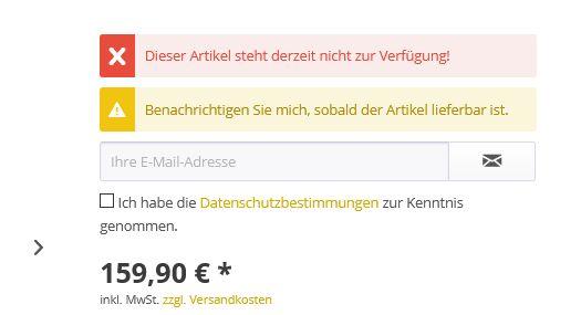 Shop-Option Benachrichtigen